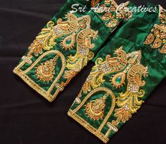 Global market Leader in Ethnic World, we serve End 2 End Customizable Indian Dreams That Reflect with Amazing Handwork & Unique Zardosi Art by Expert Workers. Cutwork Blouse Designs, Wedding Saree Blouse Designs, Best Blouse Designs, Embroidery Neck Designs, Blouse Neck Designs, Sleeve Designs, Hand Embroidery, Traditional Blouse Designs, Hand Work Blouse Design