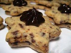 Stracciatella hvězdičky s úžasným krémem Tapas, Czech Recipes, Meringue Cookies, Cute Cookies, Something Sweet, Holiday Cookies, Macaroons, Christmas Baking, Easy Desserts