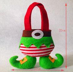 2015 decoración de la navidad nuevo navidad bolsas de dulces 5 unids/lote bolsa de regalo navidad fuentes de la decoración(China (Mainland))