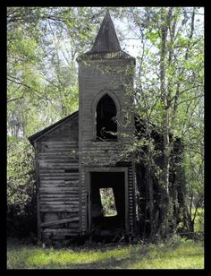 Abandoned Church Taken in Chackbay Louisiana (I think the photographer is Debbie Chauvin Miller)