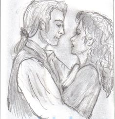 JAMIE & CLAIRE (from Oulander by Diana Gabaldon... since there is no actual picture of them I found a drawing someone did and posted to the internet)