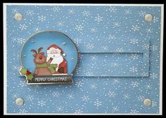 Cute snow globe slider card