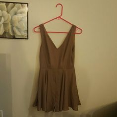 Cute Brown Charlotte Russe Romper/Dress Small Charlotte Russe Brown Romper Dress, never worn Charlotte Russe Dresses Mini