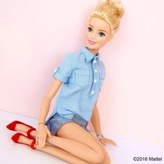 Style tip: dress up a casual look with a statement shoe!  #barbie #barbiestyle