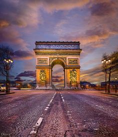 Paris Arc de Triomphe.I want to go see this place one day. Please check out my website Thanks.  www.photopix.co.nz