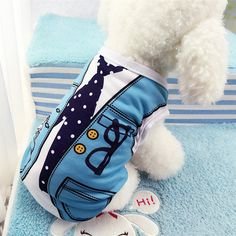 Spring/Summer Pet Dog Clothes For Small Dogs Coat Jacket False Strap Vest Print Cotton Puppy Chihuahua Costume Clothing Apparel #Affiliate