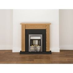 Adam Malmo Fireplace Suite in Oak with Helios Electric Fire in ...