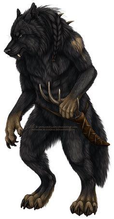 Apocalypse, Fantasy Creatures, Mythical Creatures, Female Werewolves, Werewolf Art, Anthro Furry, Animal Sketches, Star Wars Art, Furry Art