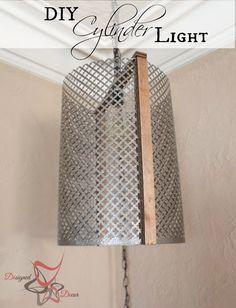 DIY Metal Cylinder Pendant Light pinnable