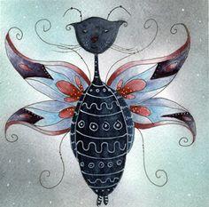 florina cat theodor watercolor doodle by Martina Loos, via Flickr