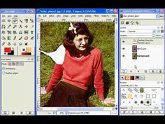 How to restore a photo using the GIMP -part 4 - YouTube