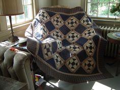 Nancy Rink pattern, Tavern Blues fabric