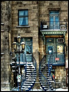 Quebec City - lots of ornate staircases/balconies.  I lived in QC for 3 years.