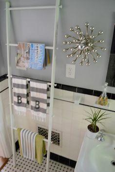 towel ladder, IKEA, anemone sconce, Robert Abbey lighting  designPOST interiors