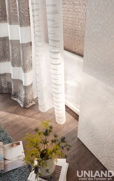 Unland CASA - Vorhang, Fensterideen, Gardinen und Sonnenschutz - curtains, contract fabrics, pleated blinds, roller blinds and more. Made in Germany 03