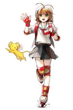 Sakura Kinomoto and Keroberos