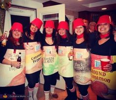 Samantha: The six of us ladies (Kristin, Samantha, Ashlynne, Randi Jo, Rachel, and Elisha) dressed as The McCormick spice girls!!! paprika, cayenne pepper, cilantro, garlic salt, black pepper and cinnamon) We...
