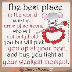 I could really use a hug from my love Mike right now- He could always make me feel better
