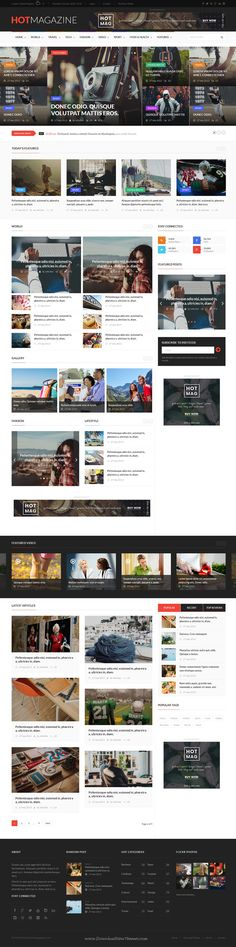 Hotmagazine is wonderful Bootstrap HTML #Template for Modern #News & Magazine #website. Download Now!