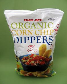 Trader Joe's Organic Corn Chip Dippers Get all your favorite Trader Joe's products with your winnings from playing mobile games on #Play4Perks! Visit www.play4perks.me on your iOS device to start playing and perking!