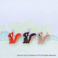 Squirrel Applique Crochet Pattern