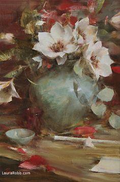 Magnolias by Laura Robb Oil ~ 18 x 12