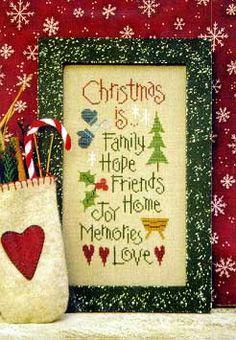 Christmas Is - Cross Stitch pattern $6.29 on 123Stitch http://123stitch.com/item/Lizzie-Kate-Christmas-Is-Cross-Stitch-Pattern/01-1794
