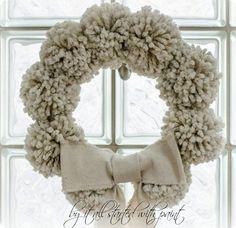 wool pom pom wreath directions