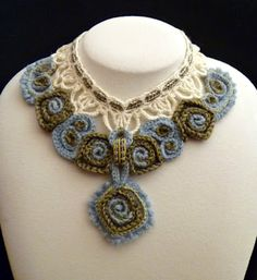 The story and inspiration behind Shelby Allaho's Marseille Crochet Necklace, which won 2nd place in the CGOA Design competition - from Stitch Story