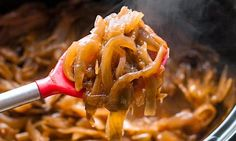 How To Make Caramelized Onions in a Slow Cooker (crockpot)— Cooking Lessons from The Kitchn Crock Pot Slow Cooker, Slow Cooker Recipes, Cooking Recipes, Potluck Recipes, Slow Cooking, Cooking Wine, Slow Cooker Caramelized Onions, Receitas Crockpot, Russell Hobbs