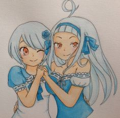 Angel/Sorano and Yukino Aguria by : http://kawaiimelodies.tumblr.com/post/87185757147/the-sisters-mirajane-and-lisanna-yukino-and