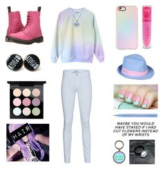 Pastel by jenniferhdz on Polyvore featuring polyvore, fashion, style, 7 For All Mankind, Dr. Martens, Casetify, Napapijri, MAC Cosmetics, Jeffree Star, Stila and clothing
