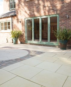 Textured paving offers the perfect balance of flair and function. It incorporates fine white limestone chippings to provide a softened appearance. Bradstone Paving, Block Paving, Paving Stones, Driveway Blocks, Builders Merchants, Patio Slabs, Patio Design, Walkway, Garden Inspiration