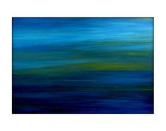 Original Resumen paisaje mar Scape moderno la pintura de