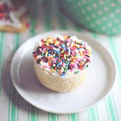 Sugar Cookie Cupcake for One! by Dashing Dish