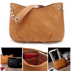 e4a281663a Fashion Women Leather Handbag Tote Shoulder Bag Messenger Hobo Bag Satchel  Purse. Tote HandbagsLeather ...