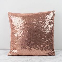 Rose Gold sequin cushion