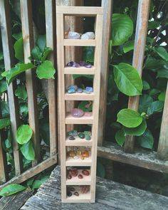 Chakra Crystal Display Shelf in Cedar by ConsciousCultivation