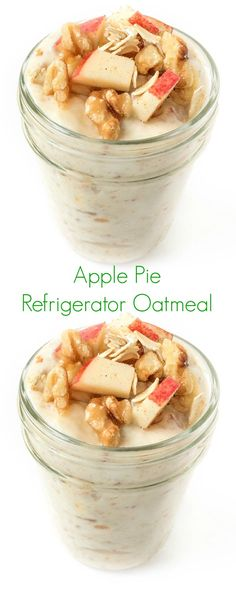 Apple Pie Refrigerator Oatmeal is everything you love about fall turned into a healthy, make-ahead breakfast.