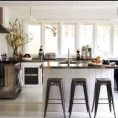 Love the tolix bar stools