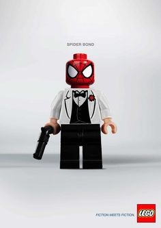 Visual so strong,the first thing you say to yourself upon looking at visual = is  the copy itself.  Lego:  Spiderbond
