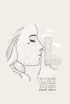 """""""Tem gente que pede socorro fazendo silêncio."""" [A Menina Que Colecionava Borboletas] Ilustração by Malena Flores, via Behance"""