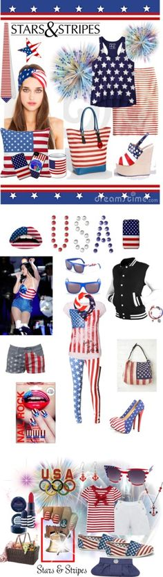 """Stars & Stripes"" by elena-indolfi on Polyvore"