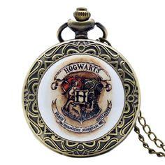 Harry Potter Hogwarts School Watch Quartz Necklace
