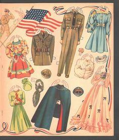 Bride and Groom Military Wedding Party 1941 Uncut Original Merrill Book   eBay
