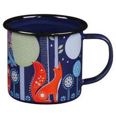 Pour se plonger dans un monde imaginaire et enchanté en dégustant sa tisane, voici un mug dessiné par Nina Jarema pour sa collection Folklore.    Une vaisselle envoûtante et féérique quivous accompagnera en festival, en camping ou à la maison.    H : 8 cm. D : 9 cm.   12,50 € http://www.lafolleadresse.com/cuisine-melamine-et-bambou/3494-mug-nina-jarema-en-metal-emaille-night.html