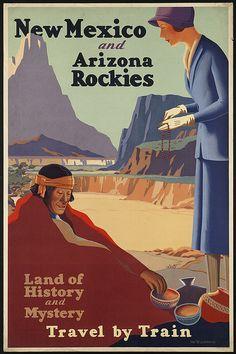 Nuevo Mexico / Arizona / Rockies - Land of History & Mystery / Travel By Train http://www.flickr.com/photos/boston_public_library/3531561448/in/photostream/