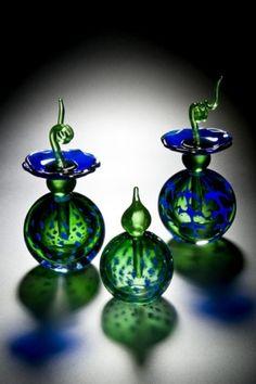 Blue flower perfume bottles by charity