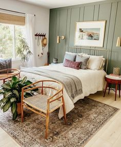 Bedroom Inspo, Home Bedroom, Bedroom Decor, Bedrooms, Master Bedroom, Bedroom Wall, Bedroom Ideas, Home Interior, Interior Design