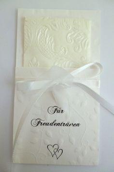 10 Freudentränenfänger, Taschentuch Freudentränen von Deko & Papierwelt auf DaWanda.com